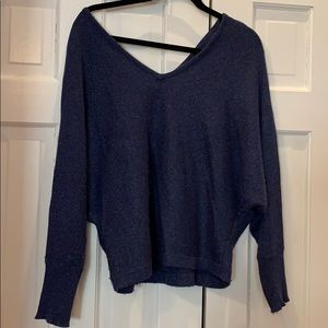 BCBG V-neck cashmere blended sweater